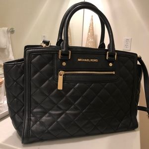 aa098103bb97 Michael Kors quilted leather Selma satchel
